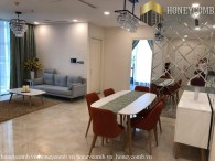 Beautiful floral decorated 3 bedrooms apartment in Vinhomes Golden River