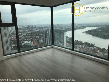 Peacefull river view with basic furniture apartment in Gateway Thao Dien