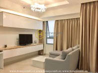Nice designed apartment two beds low floor in Masteri for rent