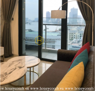 Lovely warm tone apartment with high-class interior in Vinhomes Golden River