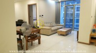 A simply designed & affordably priced apartment for rent in Vinhomes Central Park