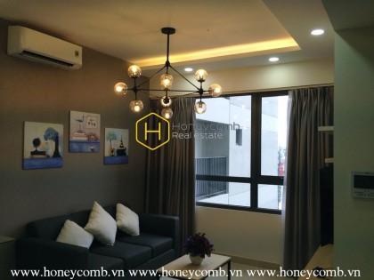 Good price 2 bedrooms apartment luxury design in Masteri for rent