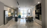 A 3-bedroom apartment in Vinhomes Central Park brings sunshine into your place