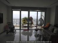 Cho thuê căn hộ 4 phòng ngủ tuyệt đẹp, lầu cao tại Vinhomes Central Park