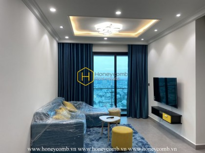 Interesting apartment in blue color is now for rent at Feliz En Vista