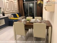 Fully furnished 2 bedrooms apartment with cool colored design in Vinhome Central Park