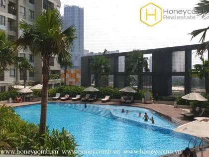Duplex 3 bedroom apartment with pool view in Masteri Thao Dien