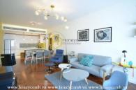 This gorgeous apartment in Saigon Pearl provides a spacious & cozy living space