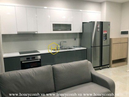 The 2 bedrooms apartment with modern and urban style in Vinhomes Golden River