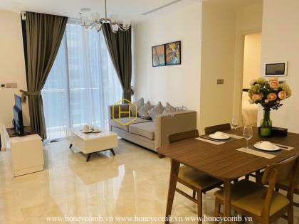True art is conveyed through this Vinhomes Golden River apartment