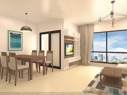 City view 2 beds apartment for rent in Pearl Plaza