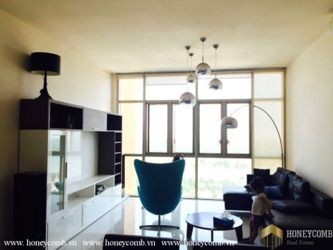 Three beautiful beds apartment with modern furniture in The Vista for rent