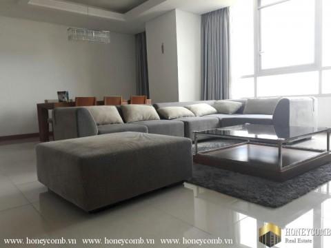 Căn hộ 3 phòng ngủ cho thuê Xi Riverview, tầm nhìn ra sông và lầu cao