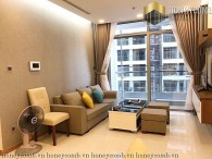 2 bedroom fully furnished with balcony for rent in Vinhome Central Park