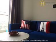Căn hộ 1 phòng ngủ tiện nghi với nội thất đầy đủ cho thuê tại Vinhomes Central Park
