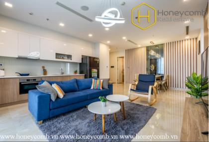 Vinhomes Golden River 3 bedrooms apartment with elegant furniture