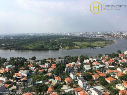 Good view 2 beds apartment in Masteri Thao Dien for rent