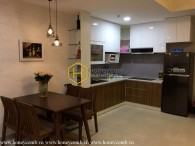 Low floor apartment with two bedrooms in Masteri Thao Dien for rent