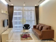 Feel the luxury with neutral color tone in this apartment for rent in Vinhomes Central Park