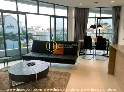 Pool view fully furnished 2 bedrooms apartment in City Garden