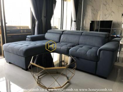 Căn hộ 2 phòng ngủ thiết kế tươi sáng tại Masteri An Phú cho thuê