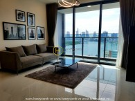 An apartment for rent in Sunwah Pearl with a base of white black and wood tone
