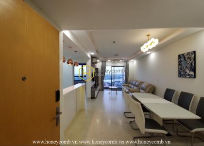 Open kitchen 3 bedroom apartment in Masteri Thao Dien for rent