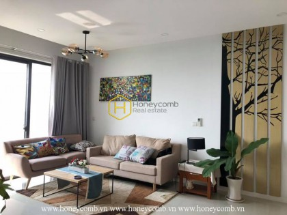 Full furnished 2 beds apartment with open kitchen in The Estella Heights