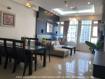 A Saigon Pearl apartment for rent with large space and magnificent architecture