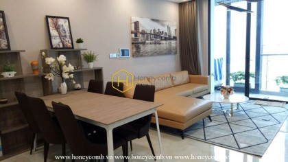 Contemporary architectural art is shown through the Vinhomes Golden River apartment