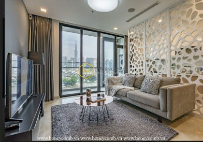 Distinctive architecture in this rental apartment in Vinhomes Golden River