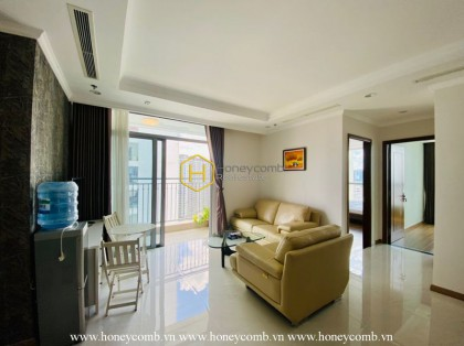 Contemporary apartment and airy Saigon view for rent in Vinhomes Central Park