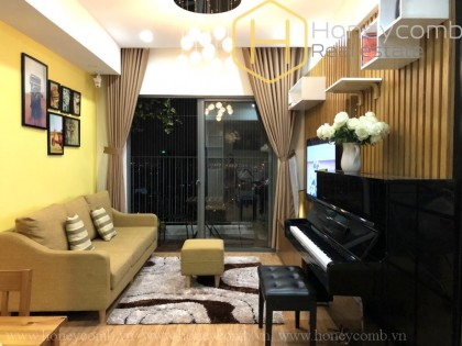 Nice furnished 2 beds apartment with high floor in Masteri Thao Dien