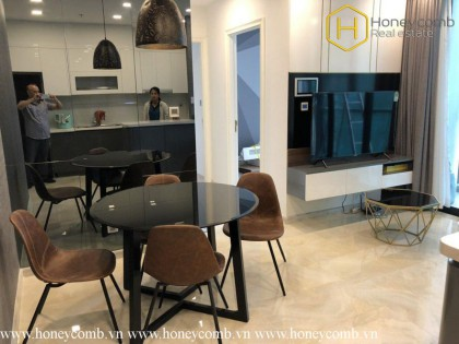 Two bedrooms apartment with modern design and nice view in Vinhomes Golden River