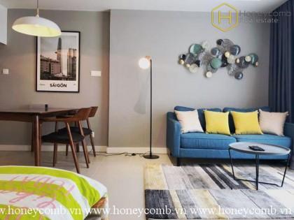 Luxury decoration studio apartment with high floor in Gateway Thao Dien