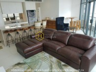 Modern furniture with stunning design apartment for rent in City Garden