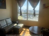 Căn hộ đầy đủ nội thất với phong cách tông gỗ cho thuê tại The Manor
