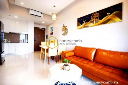 The 2 bedrooms-apartment with Chinese style is very cozy in Masteri An Phu