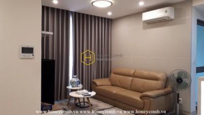 Simple and cozy living space apartment for rent in Masteri Thao Dien