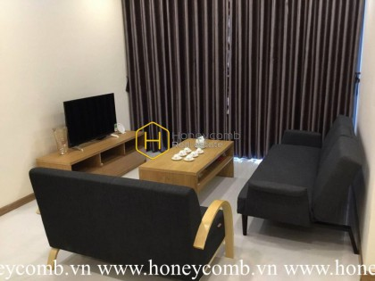 Simplified design apartment with wooden interior for rent in Vinhomes Central Park