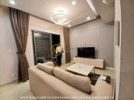 An apartment for rent in Masteri Thao Dien which has spacious living room