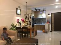 Cho thuê căn hộ Tropic Garden 2 phòng ngủ lầu thấp, nội thất sang trọng