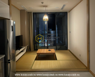 An apartment for rent in Vinhomes Golden River designed in Japanese style
