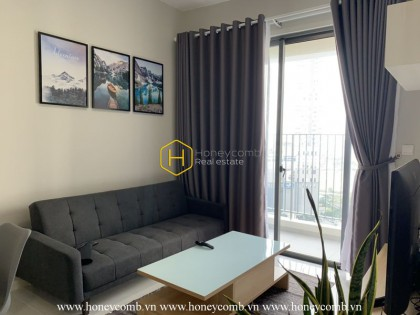 The 2 bed-apartment with neutral colour and elegant style at Masteri An Phu