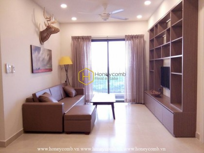Modern style two bedrooms apartment with river view and kitchen closed in Masteri Thao Dien for rent