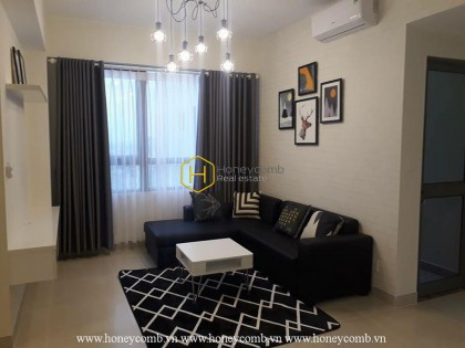 Two bedrooms apartment with dark tone style in Masteri Thao Dien for rent