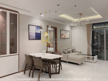 Moving into this outstanding apartment and enjoy the peaceful atmostphere in Vinhomes Central Park
