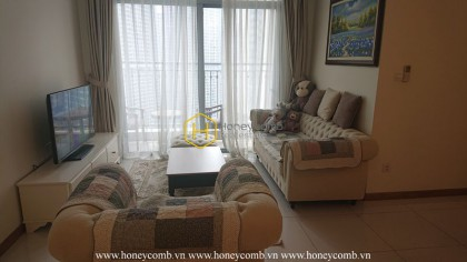 Rustic apartment for rent with modern furniture in Vinhomes Central Park
