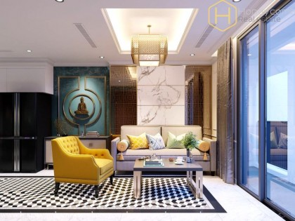 Luxury decoration 1 bedroom apartment in Vinhomes Central Park