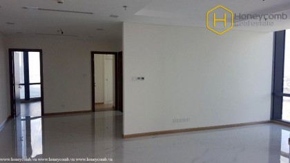 Unfurnished with 3 bedrooms apartment in Landmark 81 for rent